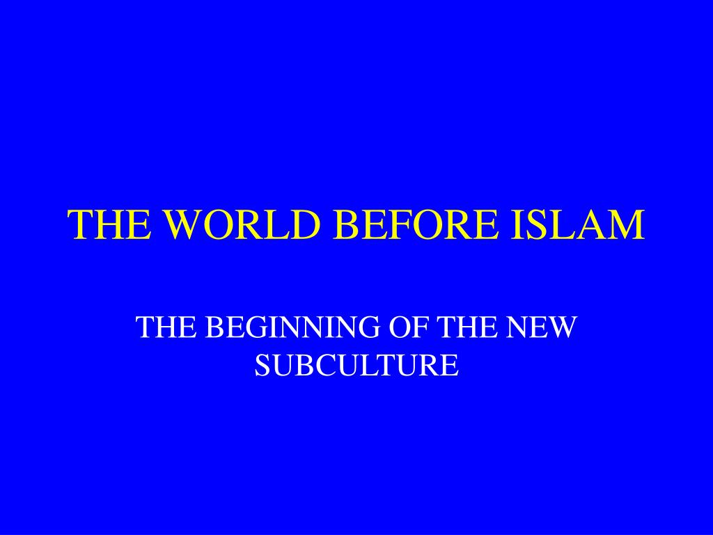 the world before islam l.