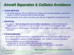aircraft separation collision avoidance