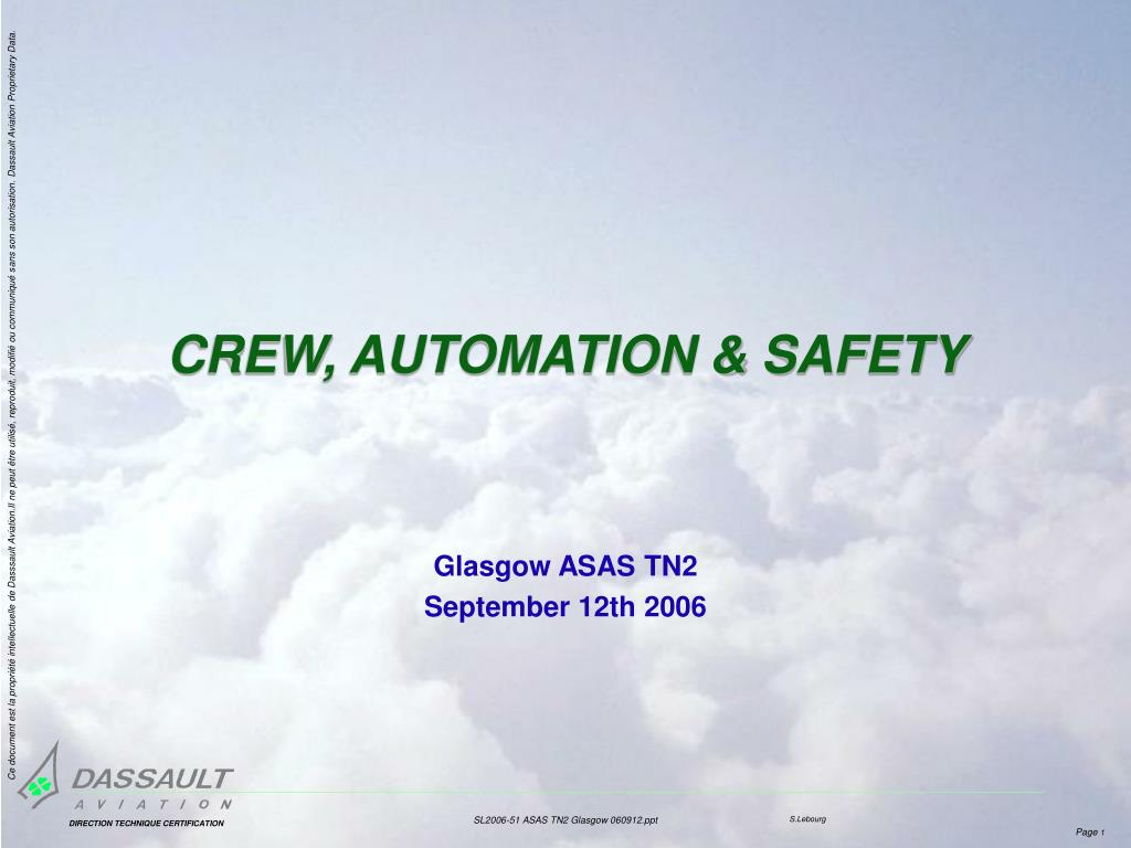crew automation safety l.
