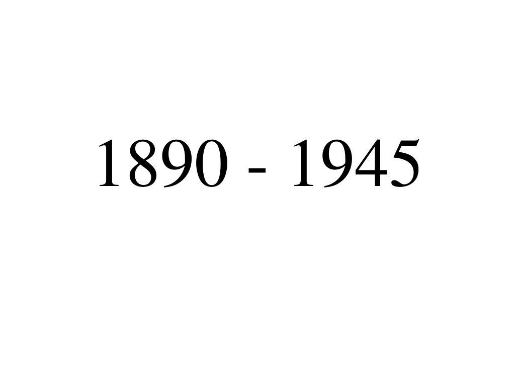 1890 1945 l.