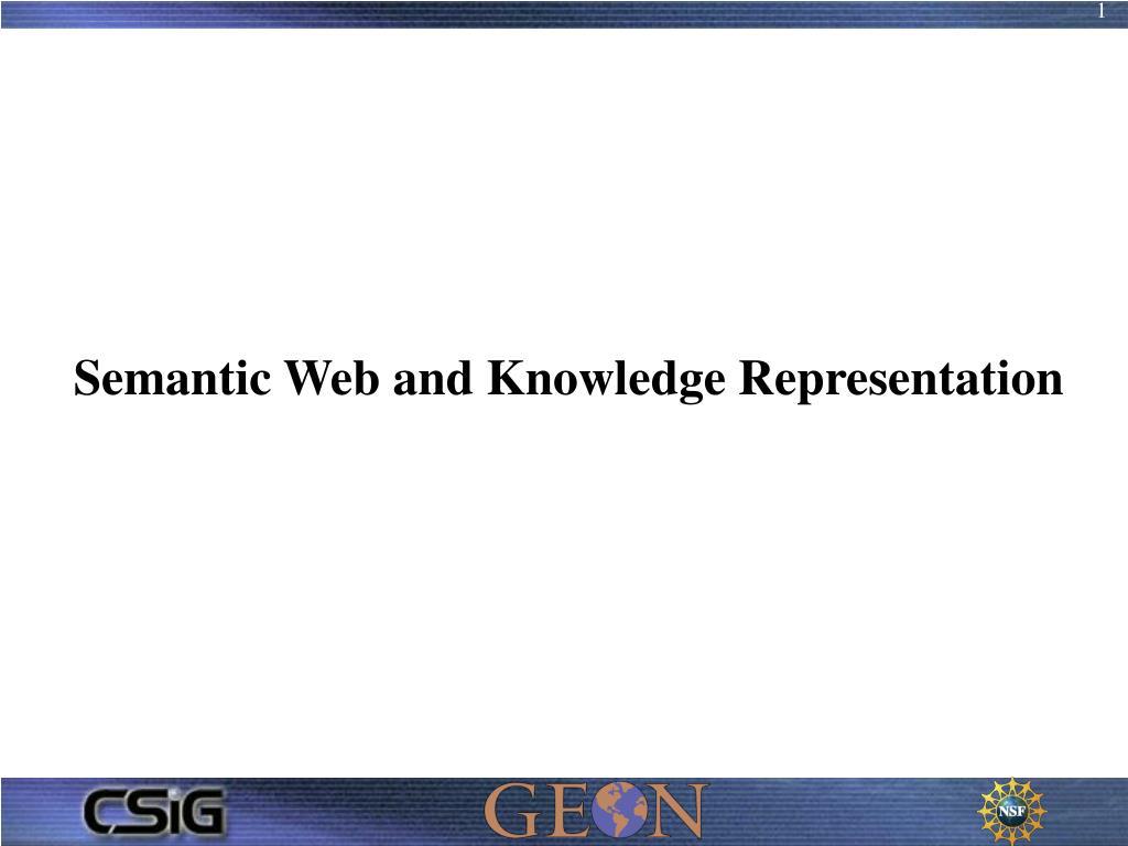semantic web and knowledge representation l.