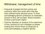withdrawal management of time