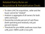 related party rules on acquisition rehabilitation deals