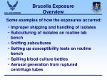 brucella exposure overview34