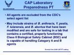 cap laboratory preparedness pt24