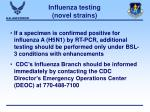 influenza testing novel strains44