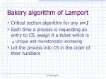 bakery algorithm of lamport