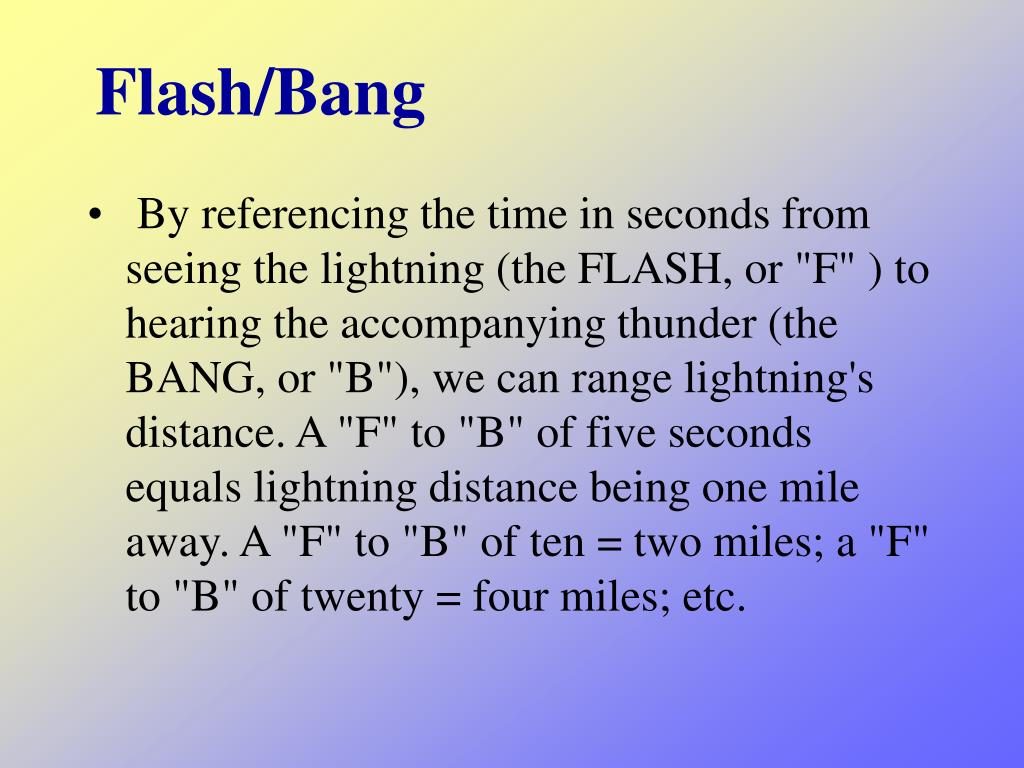Flash/Bang