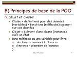 b principes de base de la poo