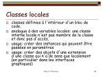 classes locales