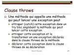 clause throws