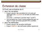 extension de classe