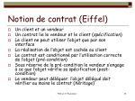 notion de contrat eiffel