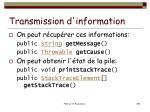 transmission d information1