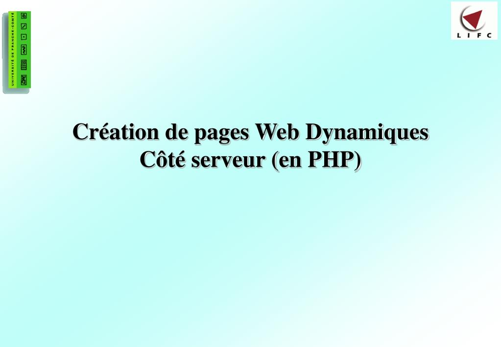cr ation de pages web dynamiques c t serveur en php l.