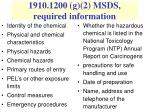 1910 1200 g 2 msds required information
