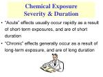 chemical exposure severity duration