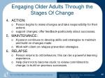 engaging older adults through the stages of change88