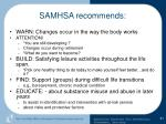 samhsa recommends