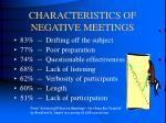 characteristics of negative meetings