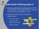 deliverable working paper 4