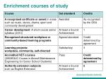 enrichment courses of study