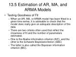 13 5 estimation of ar ma and arma models