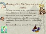 meeting gen ed competencies online