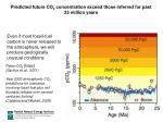 predicted future co 2 concentration exceed those inferred for past 25 million years