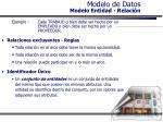 modelo de datos modelo entidad relaci n27