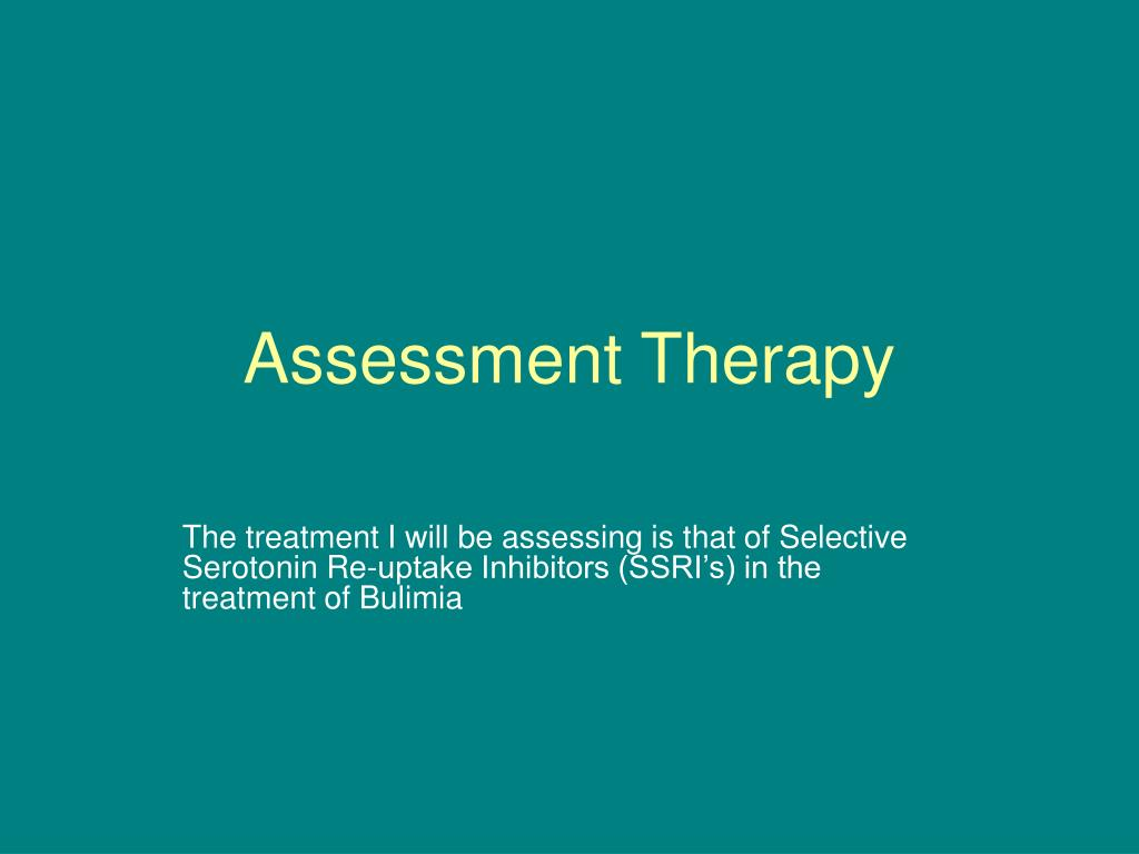 assessment therapy l.