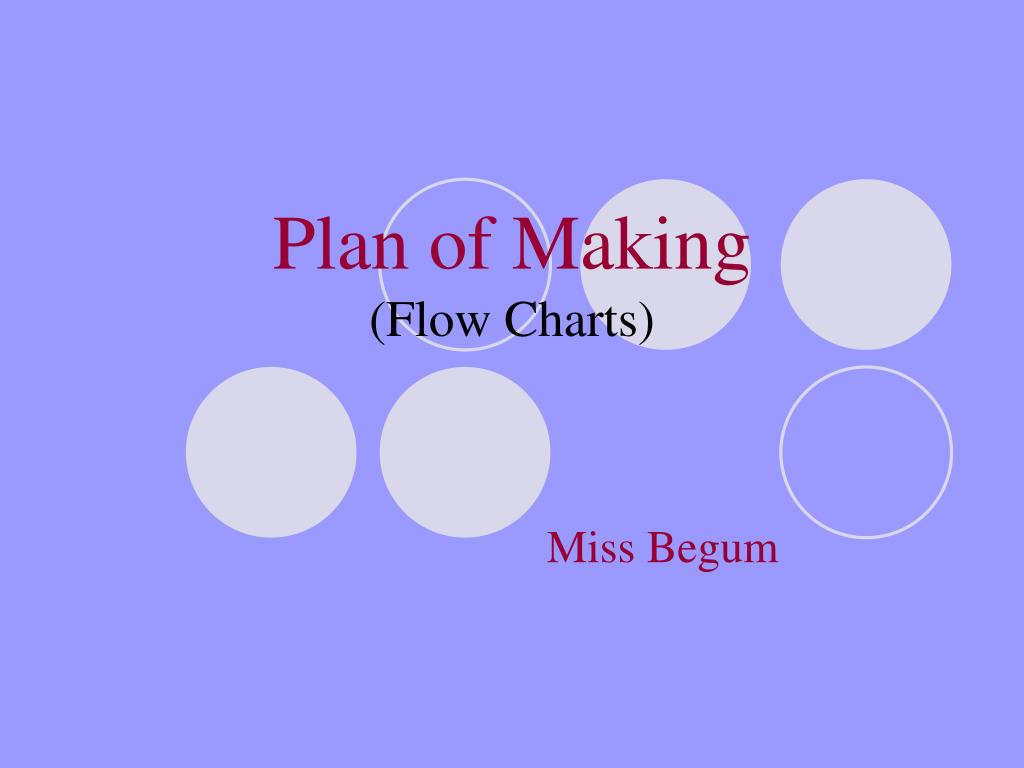 plan of making flow charts l.