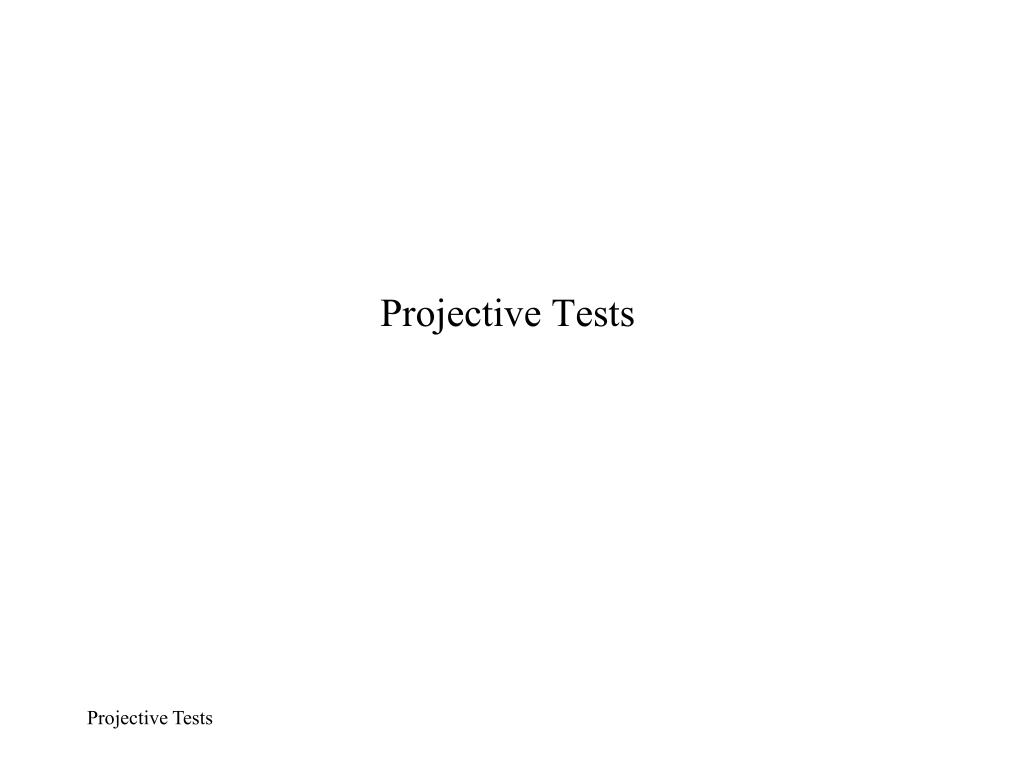 projective tests l.