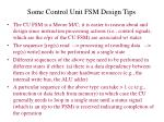 some control unit fsm design tips