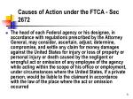 causes of action under the ftca sec 2672