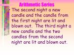 arithmetic series36