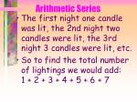 arithmetic series38