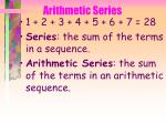 arithmetic series39
