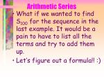 arithmetic series43