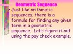 geometric sequence61