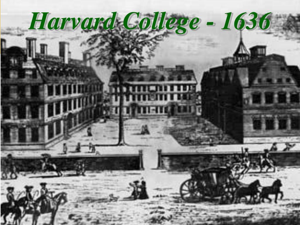 harvard college 1636 l.