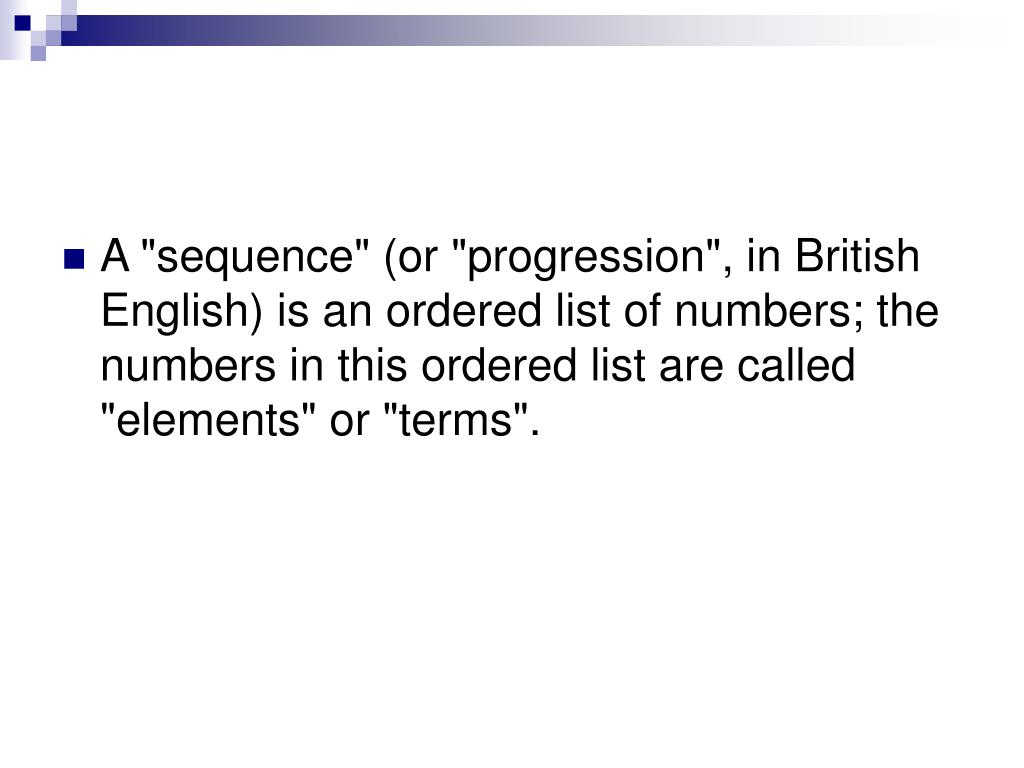 sequences geometric progression and sequence