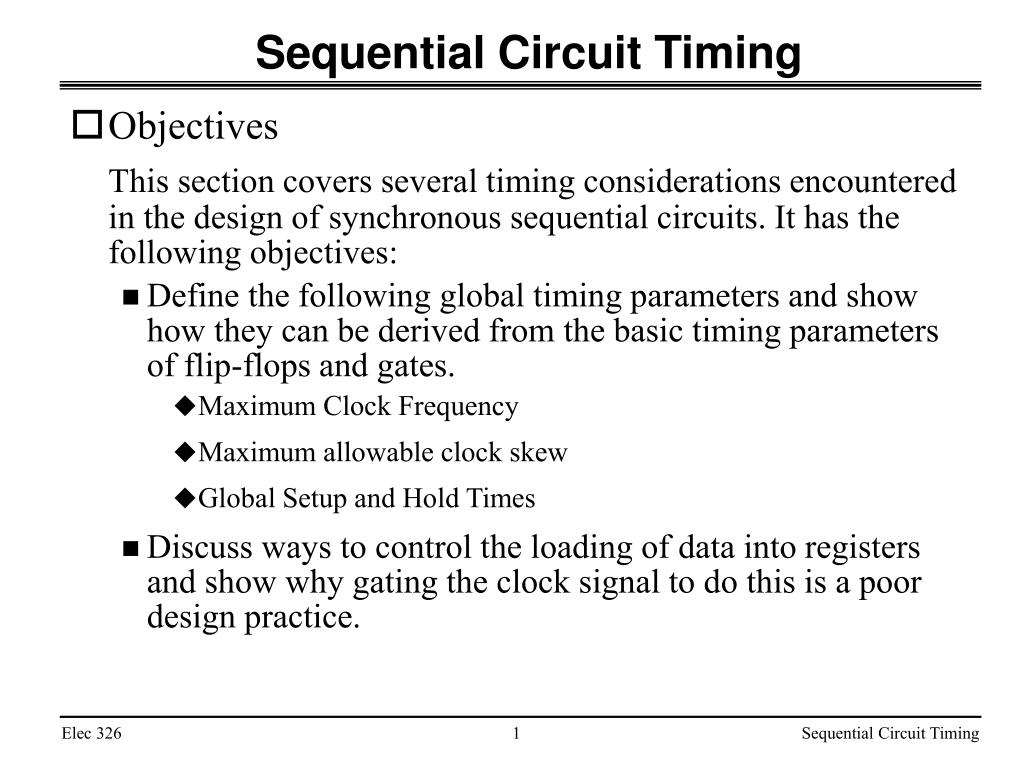 sequential circuit timing l.