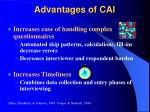 advantages of cai8