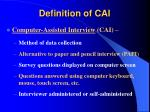 definition of cai