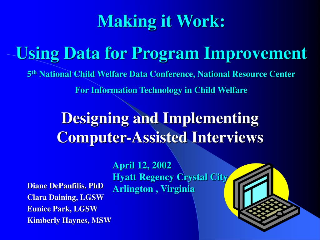 designing and implementing computer assisted interviews l.