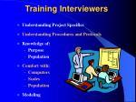 training interviewers