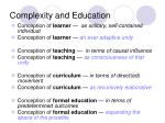 complexity and education43