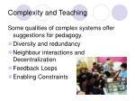 complexity and teaching
