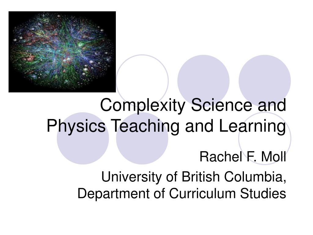 complexity science and physics teaching and learning l.